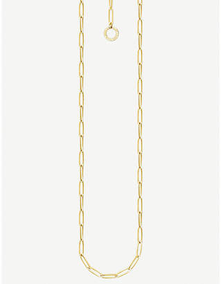 Thomas Sabo Paper Clip chain 18ct yellow gold charm necklace