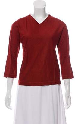 Narciso Rodriguez Wool V-Neck Top w/ Tags