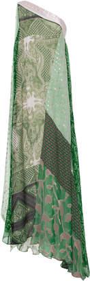 Etro One-Shoulder Silk-Blend Gown