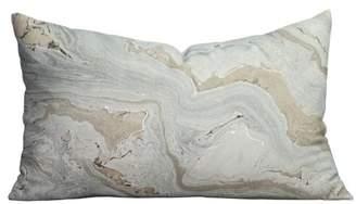 A&B Home Blue Marble Decorative Pillow