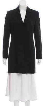 Calvin Klein Collection Wool Notch-Lapel Short Coat