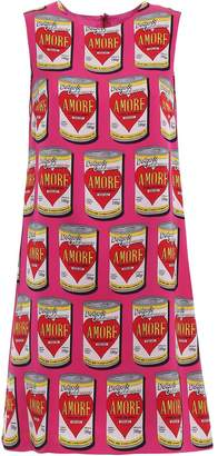Dolce & Gabbana Amore Can A-line Print Dress