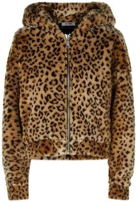RE/DONE Leopard Spotted Teddy Hoodie
