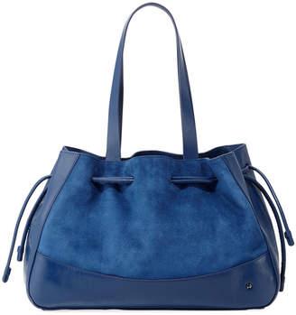 0124ed306541 Halston Suede Drawstring Satchel Bag
