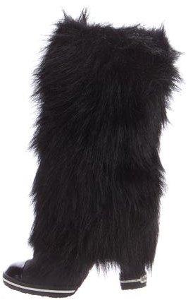 Dolce & GabbanaDolce & Gabbana Fur Knee-High Boots