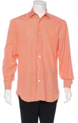 Kiton Striped French Cuff Shirt