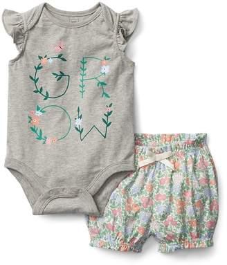 Gap Floral Bodysuit and Shorts Set