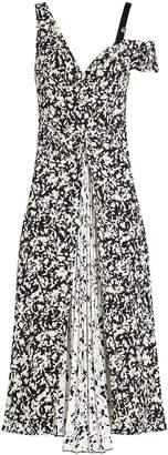 Proenza Schouler Printed Silk Dress with Pleats