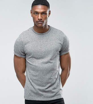 Asos Tall T-Shirt With Roll Sleeve In Heavyweight Twisted Jersey