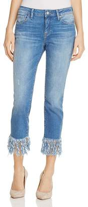 Mavi Kerry Fringed Ankle Jeans in Vintage $118 thestylecure.com