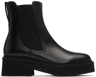 Marni Black Leather Chelsea Boots