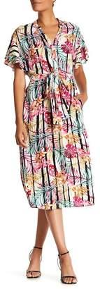 Nine West Drop Shoulder Midi Dress