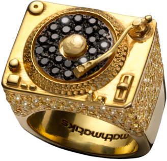 Mathmatiks 18k Gold & Diamond Turntable Ring