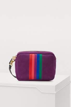 Clare Vivier Leather and sheep Midi crossbody bag