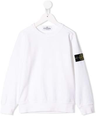 Stone Island Junior compass badge sweatshirt