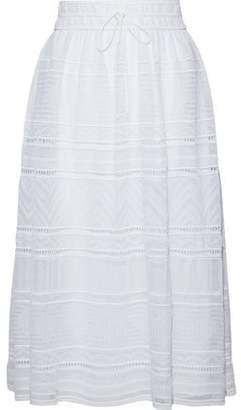 M Missoni Gathered Crochet Cotton-Blend Skirt