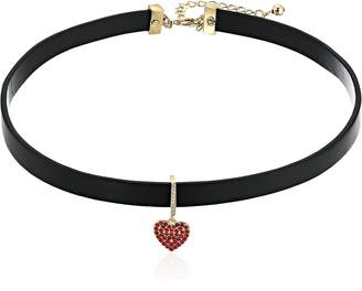 Kate Spade Pave Heart Choker Necklace