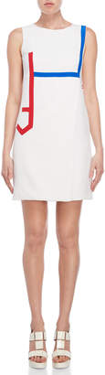 Versace White City Silk Mini Dress
