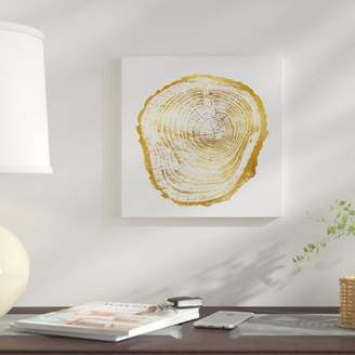 East Urban Home 'Timber Gold III' Graphic Art Print on Canvas
