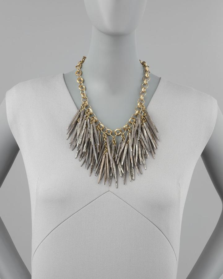 Ashley Pittman Dark Quill-Bead Necklace