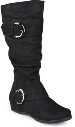 Co Brinley Women's Wide-Calf Buckle Knee-High Slouch Microsuede Boot