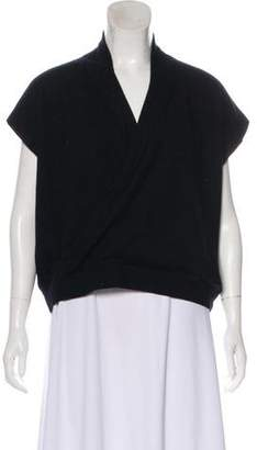 Brunello Cucinelli Cashmere Surplice Neck Top