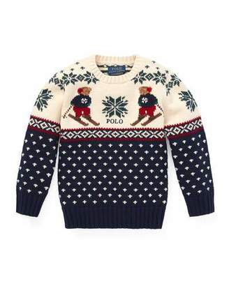Ralph Lauren Fair Isle Bear Intarsia Sweater, Size 5-7