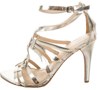 Vera Wang Metallic Cage Sandals $65 thestylecure.com
