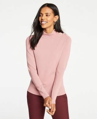 Ann Taylor Shoulder Button Turtleneck Sweater
