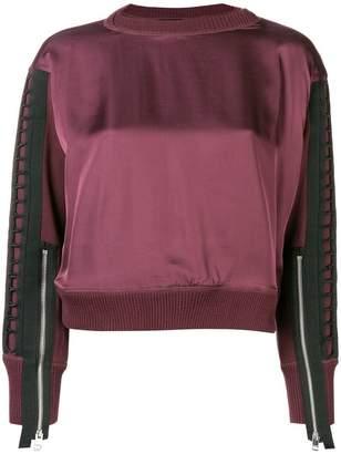 Diesel zipped sleeve sweatshirt