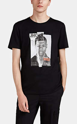 Neil Barrett Men's Magazine-Print Cotton-Blend T-Shirt - Black