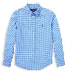 Ralph Lauren Little Boy's& Boy's Checkered Poplin Shirt