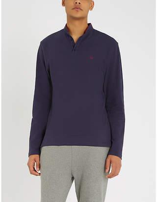 The Kooples Contrast trim cotton-piqué polo shirt