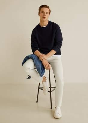 MANGO MAN - Slim fit chino pants light/pastel grey - 28 - Men