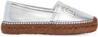 Dolce & Gabbana 30mm Metallic Leather Espadrilles