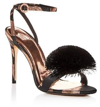 Ted Baker Women's Elynie Pom-Pom High-Heel Sandals