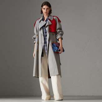 Burberry Knit-detail Tropical Gabardine Trench Coat