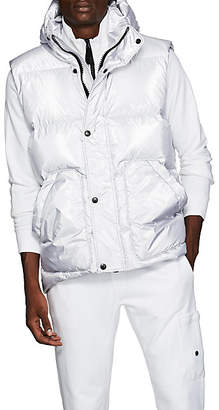 IENKI IENKI Men's Down-Quilted Oversized Vest - Silver
