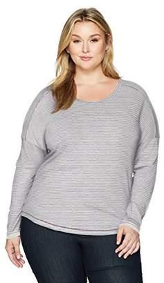 Columbia Women's Size Easygoing Ls Stripe Tee Plus