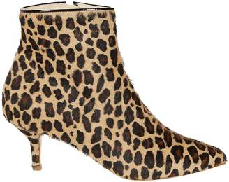 Polly Plume Leopard Ankle Boots