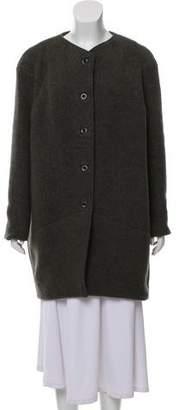 Gary Graham Collarless Knee-Length Coat