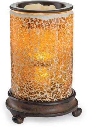 Candle Warmers Etc. Crackled Amber Illumination Fragrance Warmer