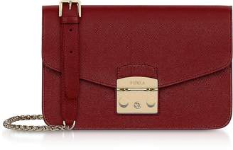 Furla Cherry Red Metropolis S Shoulder Bag