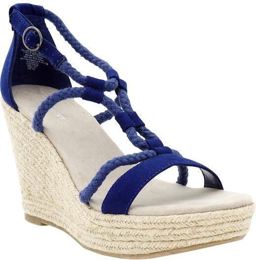 Women's Sueded-Rope Wedges