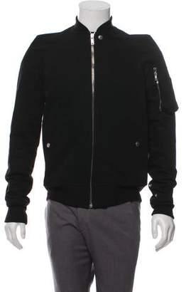 Rick Owens Wool-Trimmed Bomber Jacket