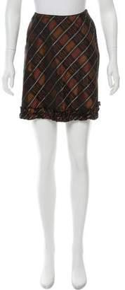 Anna Sui Plaid Mini Skirt