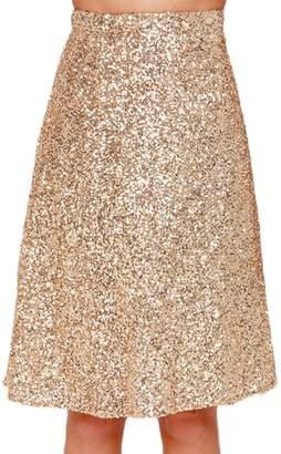 Lettre d'amour Women Sequins A-Line Skirt Pencil Dress Bottoms M