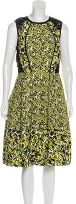 Oscar de la Renta Floral Midi Dress Yellow Floral Midi Dress