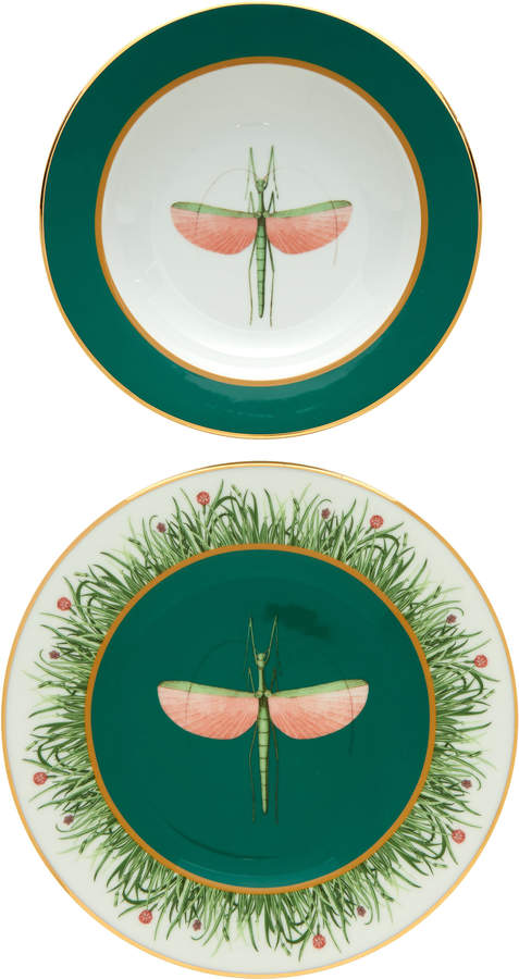 La DoubleJ Housewives Set-Of-Two Libellula Porcelain Dinner Plates