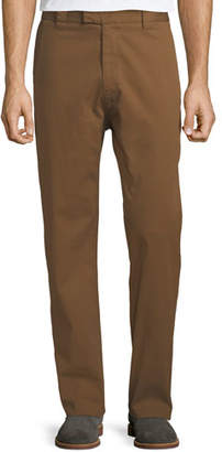 Salvatore Ferragamo Men's Straight-Leg Stretch-Cotton Workman Trousers